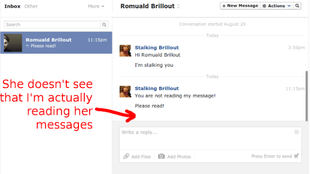 Facebook invisible