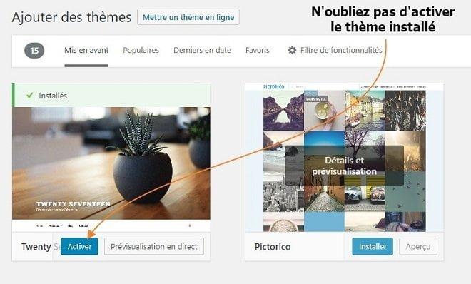 Comment installer facilement un thème dans WordPress
