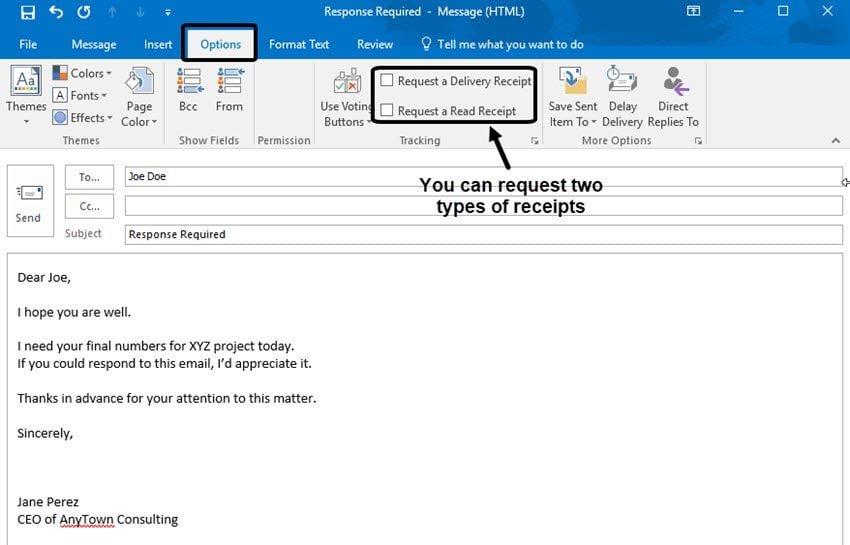 Comment vérifier si un mail a été lu depuis Outlook ?