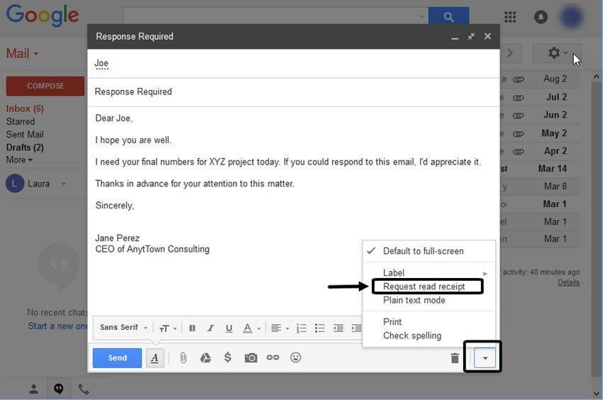 Comment savoir si un mail a été lu à partir de Gmail ?