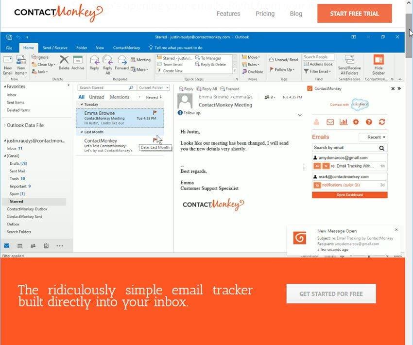 Utilisez ContactMonkey pour savoir qui ont lu vos mails.