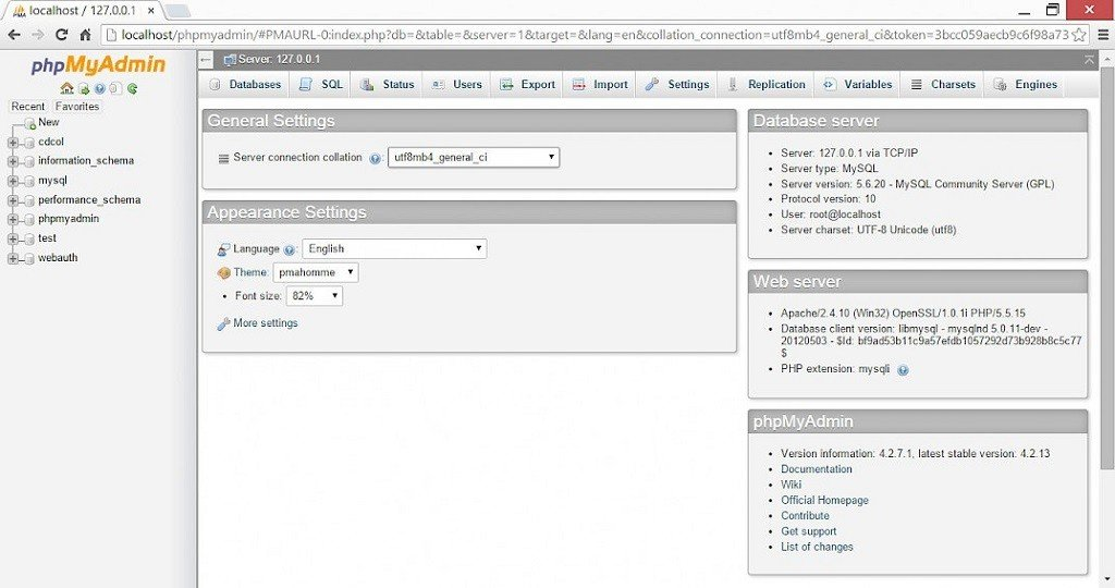 Création d'une base de donnée MySQL pour WordPress