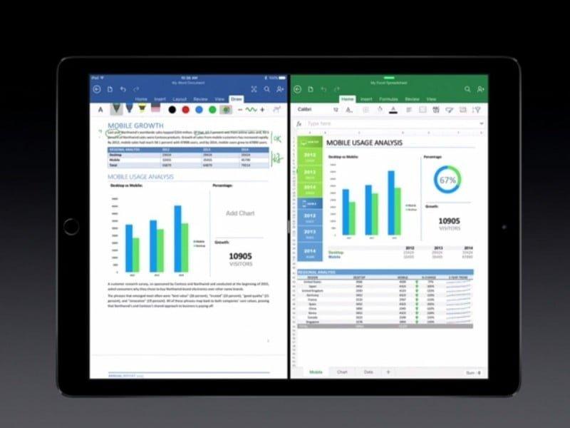 Microsoft Office pour iPad Pro