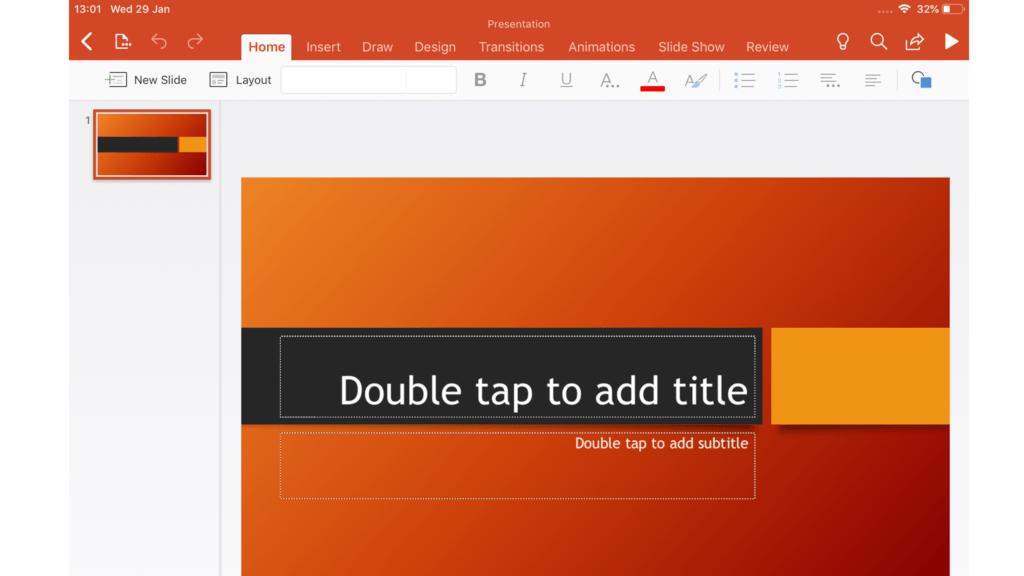 PowerPoint pour iOS
