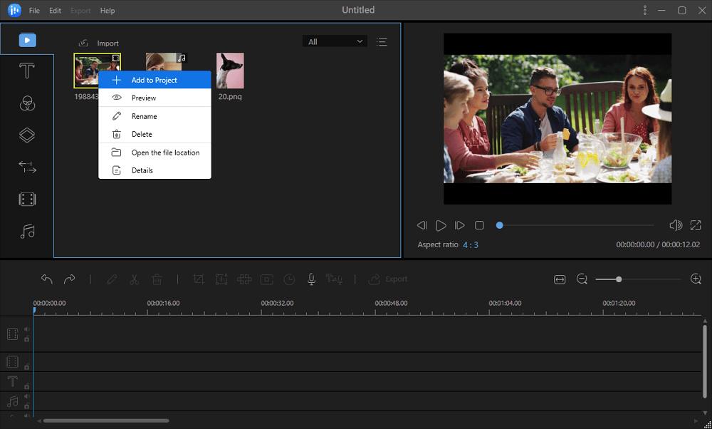 Ajouter des clips vidéo au projet
