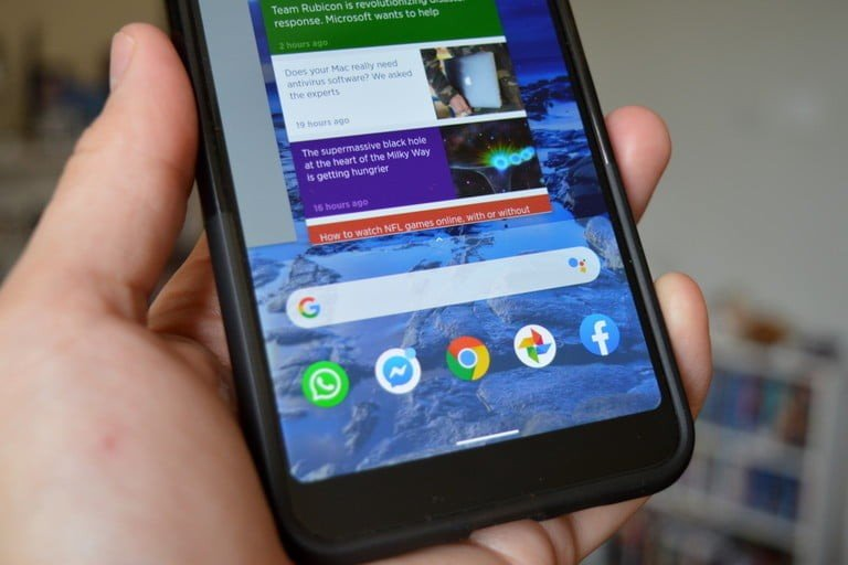 Applications et gestes sur Android 10