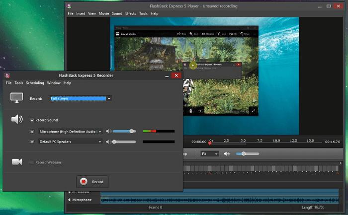 Flashback Express pour enregistrer streaming sur Windows