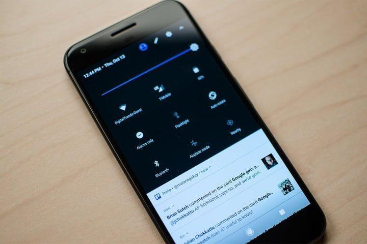 Paramètres rapides d'Android