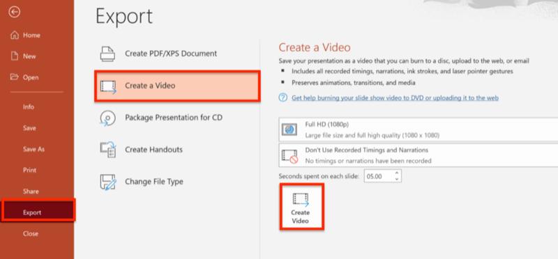 PowerPoint pour créer des vidéos carrées