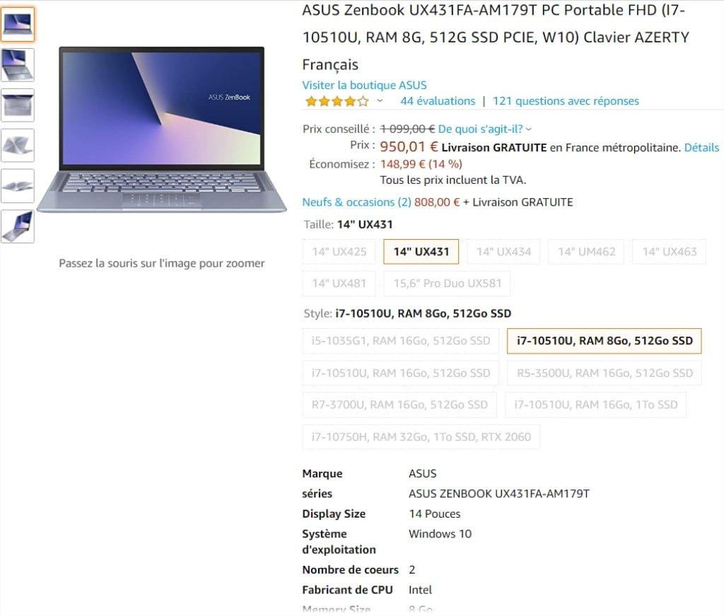 ASUS Zenbook UX431FA