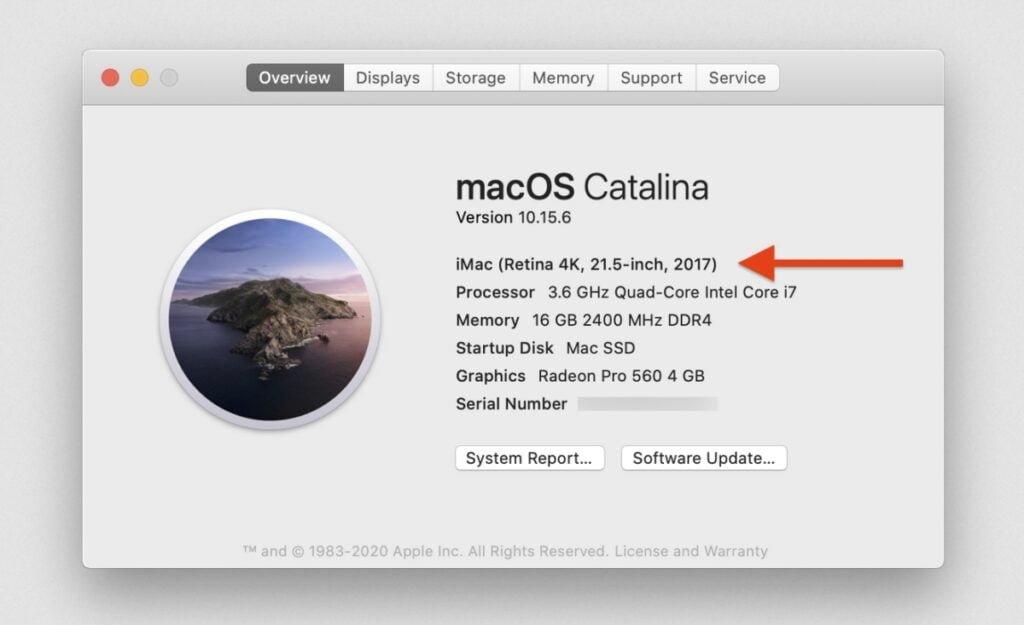 modèle de MAc compatible avec Big Sur